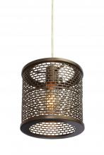 Varaluz 231M01NB - Lit-Mesh Test 1-Lt Mini Pendant - New Bronze