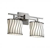 Justice Design Group WGL-8573-30-SWOP-DBRZ Wire Glass Collection Victoria 3-Light Bath Bar